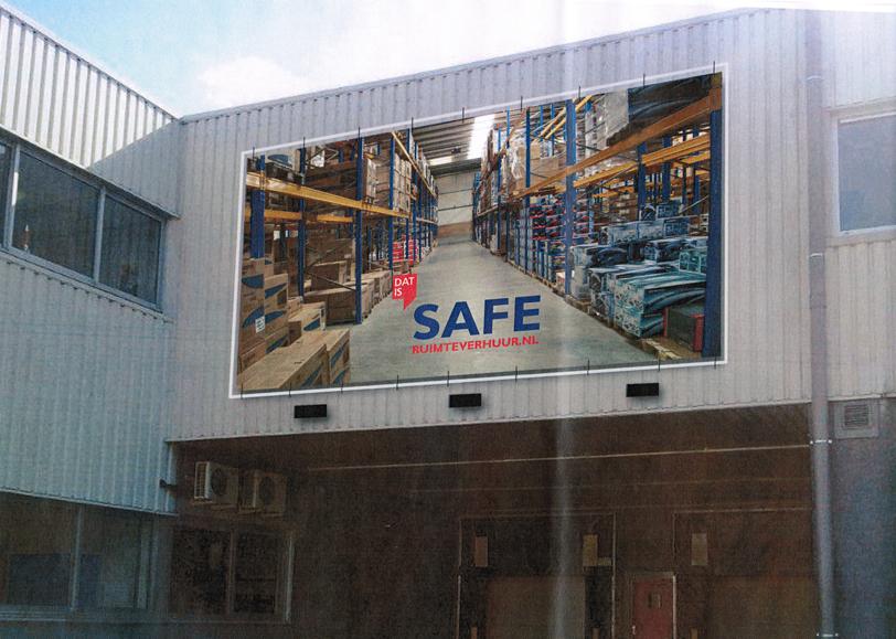 Geveldoek - SAFE Ruimteverhuur