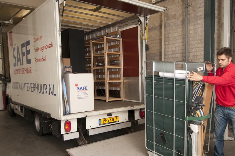 Vrachtwagen belettering - SAFE ruimteverhuur